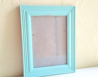 Farmhouse Style 5x7 Turquoise Wooden Picture Frames Wood Aqua Shabby Chic