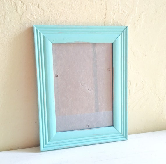 farmhouse style 5x7 turquoise wooden picture frames wood aqua shabby chic from shabbynchic on. Black Bedroom Furniture Sets. Home Design Ideas