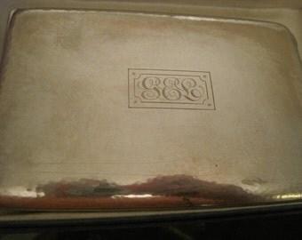 Vintage Sterling Monogrammed Cigarette Case