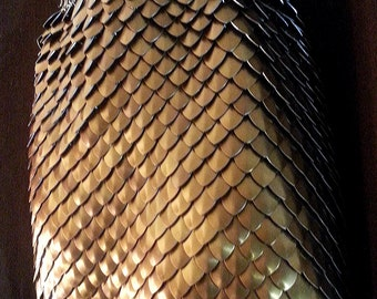 Stainless steel and anodized aluminum Scalemail Dragonscale Chainmail Skirt Roman Armor Fantasy Renaissance Cosplay LARP