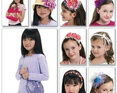 Kids Girls Accessories Pattern 2 Hats Headbands Purse Bag Craft HairClip McCalls 6088 Uncut OOP