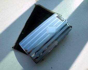 Vintage Chrome PAL Cigerette Case/Lighter - With original Felt Bag.