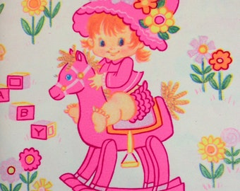 Vintage Little Girl Wrapping Paper