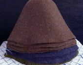 Lot of 8 Fur and Wool Felt Hood Hat Bodies - Millinery supply