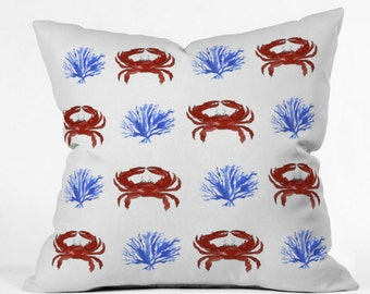 Red White and Blue Indoor Throw Pillow