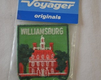 Vintage WILLIAMSBURG VIRGINIA embroidered fabric patch Voyager Original new in package