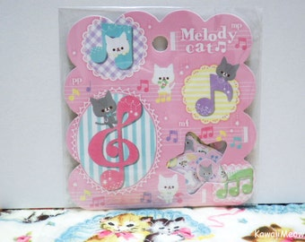 Q-LiA Sticker Flakes - Melody Cat - 50 Pieces (01189)