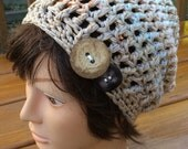 Organic Cotton Crocheted Slouch Hat  11/15