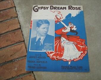1929  vintage sheet music ( Gypsy Dream Rose )
