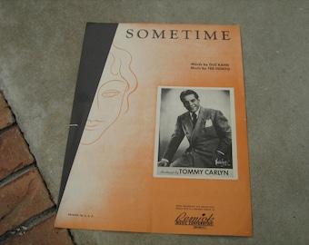 1925  vintage sheet music ( Sometime )