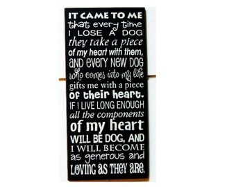 It came to me that every time I lose a Dog wood sign