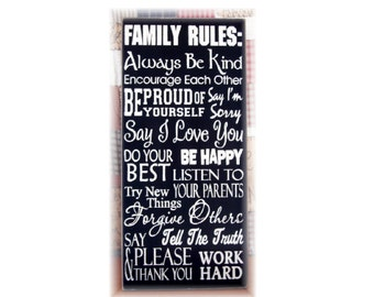 Family Rules... typography sign subway art
