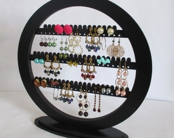 Oval earring holder , Jewelry rack, storage and organization, earring organizer ,accessory rack, display , round earring stand