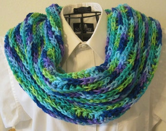 Crocheted Knit-Look Cowl / Scarf - Wildflowers