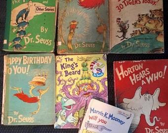 Vintage Dr. Seuss Books - Lot of Seven - 1954 - 1997