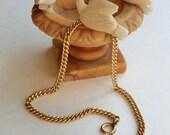 Vintage Pocket Watch Chain Swivel Clasp Gold Tone Watch Chain Steampunk Supplies