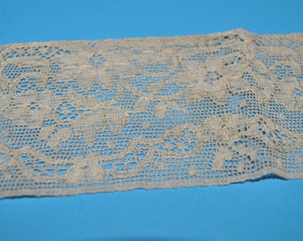 "Antique Ecru Lace Trim Edging 2 1/4"" Wide"