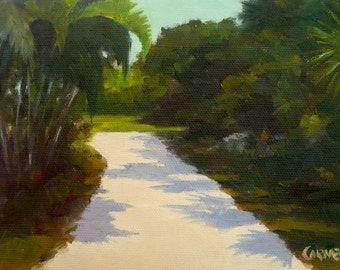 Florida Road, 8x6 Oil on Canvas Panel, Landscape
