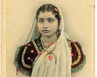 Antique Postcard of a Bengali Lady