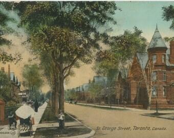 Vintage Postcard - Saint George Street, Toronto - 1912 Postcard