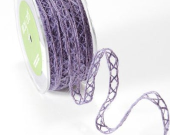 May Arts- Wired Burlap Woven Ribbon (Choose from 4 colors!) Sold by the yard
