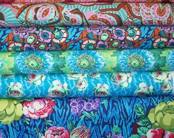 FAT QUARTER Bundle - Amy Butler, Hapi, Rowan Westminster Designer Cotton Quilt Fabric, Fat Qtr, Floral Fabric, Quilting Fabric,