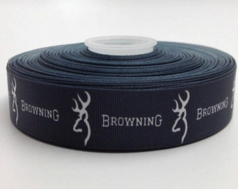Browning  1 Inch Wide Grosgrain Ribbon by the yard