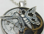 Steampunk Watch movement pendant - In the works - Steampunk Necklace - Repurposed art
