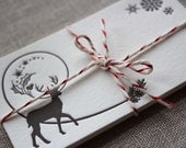 Letterpress Gift Tags - Winter Deer
