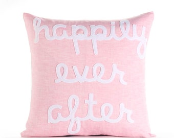 "Happily Ever After 16""x16"" Linen Pillow"