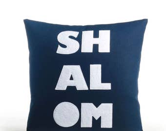 "NEW! Throw pillow, decorative pillow, 'Shalom"" 16X16 inch pillow, NEW!"