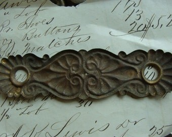 Antique Salvaged Beautiful Ornate Antique Hardware