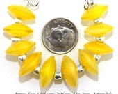 Lampwork Bead Set, Translucent Yellow Murano Glass lampwork Disc beads, Made to Order, yellow disk lampwork, Bims Bangles