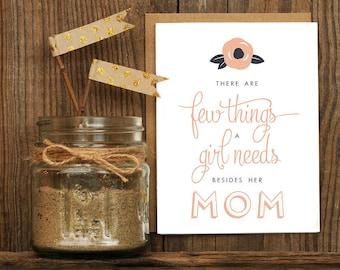 Few Things Mom Letterpress Greeting Card
