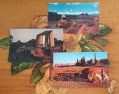 Arizona Desert Postcards Vintage Souvenir Photos Travel USA set of 3 Sedona Holy Cross Totem