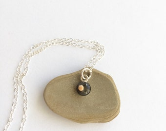 tiny mustard seed charm  - teeny tiny sterling silver mustard seed charm pendant - tiny mustard seed necklace, matthew 1720