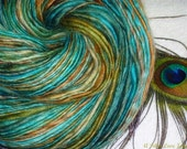 Tail Feather Handspun Luxury Yarn - 330 yards - Single Ply - Knit - Crochet - Weave - Fulling - Mixed Media - Fiber Arts - Textile Arts