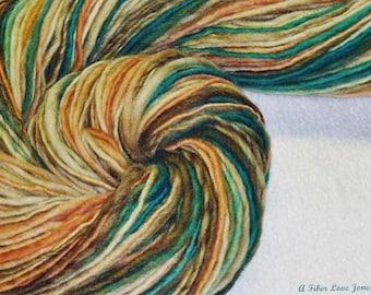 Sqwishful Thinkin' Handspun Yarn - 256 yards - Bulky - Knit - Crochet - Weave - Felting - Mixed Media - Fiber Arts - Textile Arts