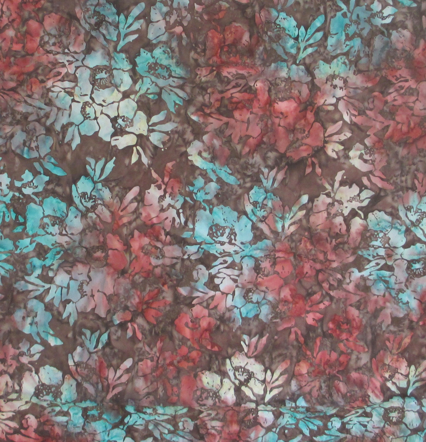 poppies teal brown tonga batik fabric timeless treasures b4171 topaz from. Black Bedroom Furniture Sets. Home Design Ideas