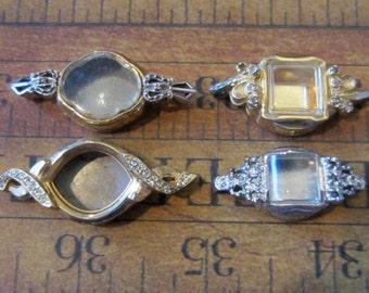 Vintage  Watch parts - watch Cases -  Steampunk - Scrapbooking  x6