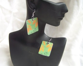 Recycled Gift Card Earrings