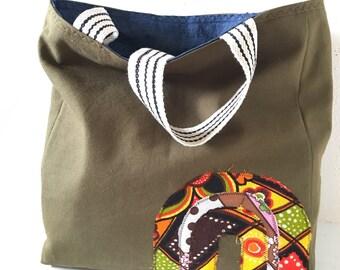 Military Green Tote/ Handbag/ Purse