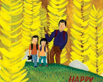 Father's Day Hike Card