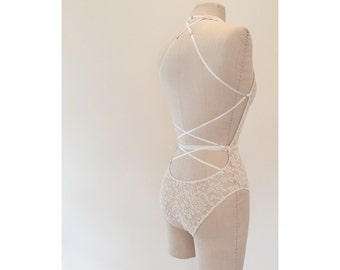 Bride to Be Ivory Lace Lingerie Bodysuit