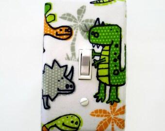 Dinosaur Light Switch Cover - Dinosaur Nursery Switch Plate - Green Dinosaur Switch Plate - Boys Dinosaur Bedroom Decor - Dinosaur Room