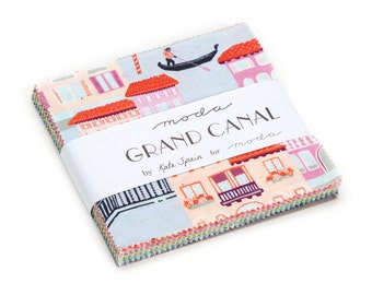 SUMMER SALE - Charm Pack - Grand Canal - Kate Spain for Moda Fabric