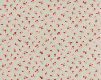 SPRING SALE - 1 yard - Little Ruby -  Little Quirky in Gray (55131-15) - Bonnie and Camille for Moda Fabrics