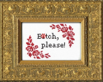Subversive Cross Stitch Kit: B*tch, Please!
