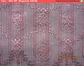 On SALE - Antique Silk Damask Fabric French Pillow