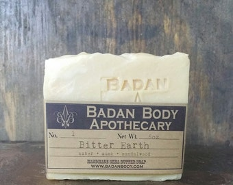 Bitter Earth Shea Butter Soap Bar Handmade Organic Soap with SANDALWOOD SAGE AMBER
